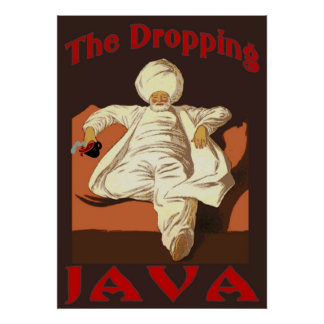 Sultan of Dropping Coffee Poster
