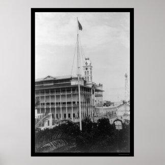 Sultan Palace in Zanzibar 1904 Poster