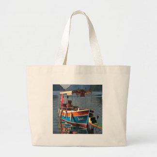 Sultan Taxi Boat Marmaris Large Tote Bag