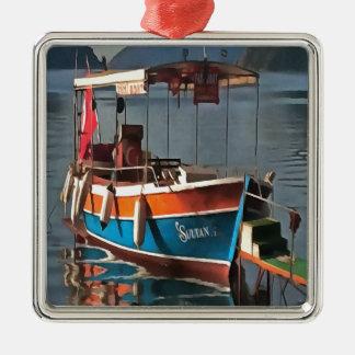 Sultan Taxi Boat Marmaris Metal Ornament