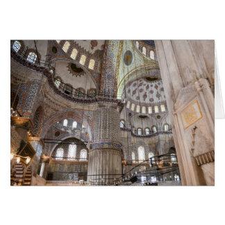 Sultanahmet Mosque in Istanbul Turkey Card