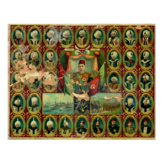 Sultans of the Ottoman Dynasty Vintage Poster