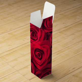 Sultry Red Roses Wine Bottle Box