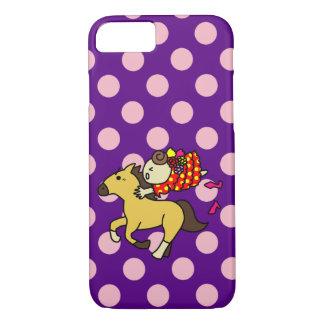 sumahokesu (hard) hippopotamus child light brown iPhone 8/7 case