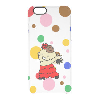 sumahokesu (transparency) kasutanetsu child red clear iPhone 6/6S case