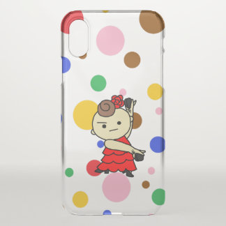 sumahokesu (transparency) Paris child red iPhone X Case