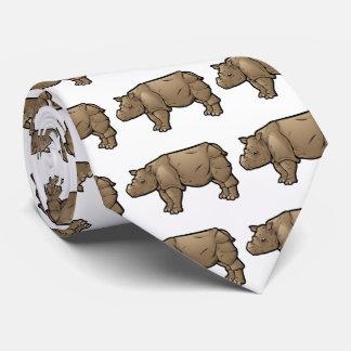 Sumatran Rhinoceros Tie