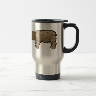 Sumatran Rhinoceros Travel Mug
