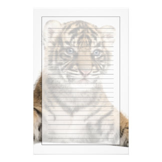 Sumatran Tiger cub Customized Stationery