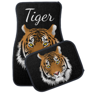 Sumatran Tiger Face Wildlife Personalised Car Mat
