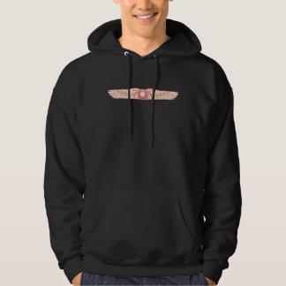 Sumerian Anunnaki Winged Sun Disk Hooded Sweatshirts