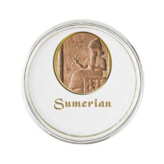 sumerian lapel pin