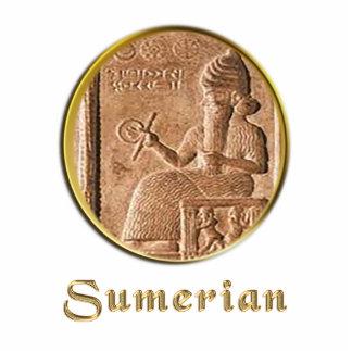 sumerian photo sculpture key ring