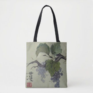 Sumi-e Grapevine Tote Bag