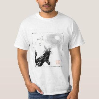 Sumi-e style Cat Tee Shirt