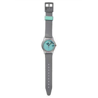 Sumi-e Turquoise Bird Watch