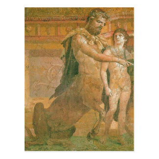 Summary Chiron instructs young Achilles center exp Postcard