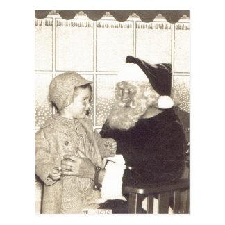 Summary Department Store Santa circa 1956. A.Chris Postcard
