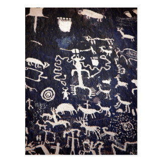 Summary Description American Indian petroglyphs at Postcard