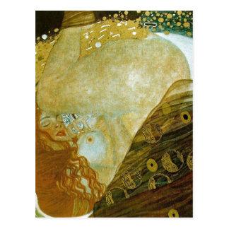 Summary Description Danae, Oil on canvas, 77 x 83  Postcard