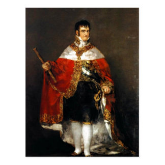 Summary Description Retrato de Fernando VII con ma Postcard