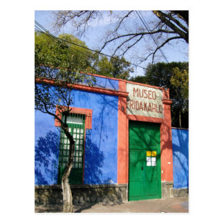 Summary The blue House in Coyoacan, where Frida Ka Postcard