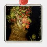 Summer, 1573 Silver-Colored square decoration