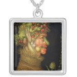 Summer, 1573 square pendant necklace