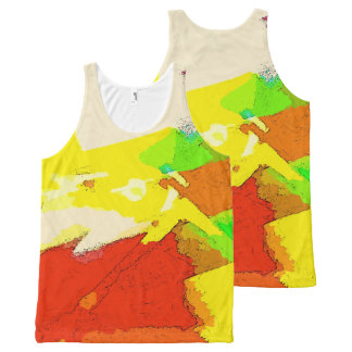 Summer Abstract Art Design All-Over Print Singlet