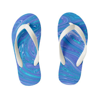 Summer Abstract - kids Kid's Thongs