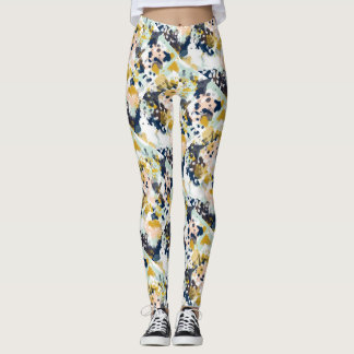 Summer Abstract Print Legging