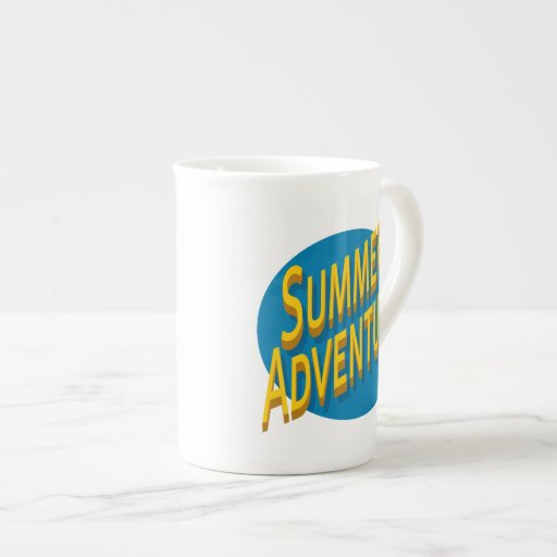Summer Adventure Porcelain Mugs