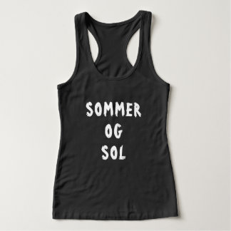 summer and sun in Norwegian black Singlet
