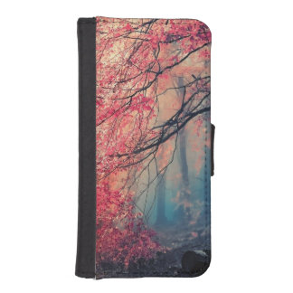 Summer and winter in the forest iPhone SE/5/5s wallet case