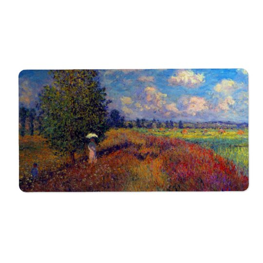 Summer art impressionist poppy fields by Monet