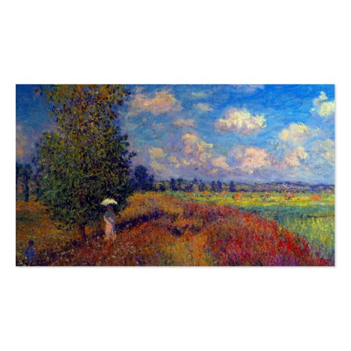 Summer art impressionist poppy fields by Monet Business Card Template