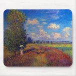 Summer art impressionist poppy fields by Monet Mousemat