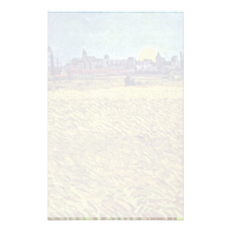 Summer At Arles (Wheat Field) At Sunset By Vincent Stationery
