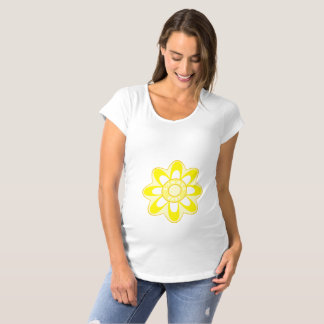 Summer Baby Sunflower Maternity T-Shirt
