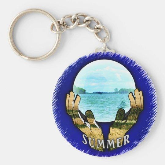 Summer ball key ring