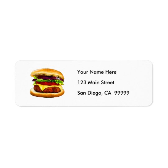 Summer Barbecue Burger Return Address Label