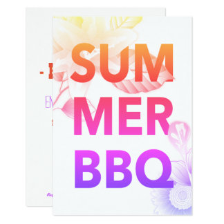 SUMMER BBQ bright floral Card