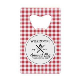 Summer BBQ Grill Cookout Reunion Red Gingham Check