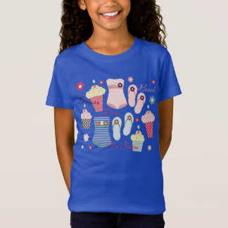 Summer Beach and Ice Cream Cones T-Shirt