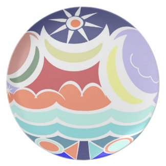Summer Beach Ball Abstract Decorative Plate