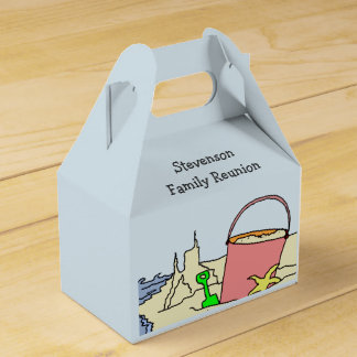 Summer Beach Family Reunion Keepsake Favor Box