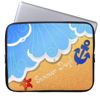 Summer Beach laptop sleeves