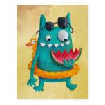 Summer Beach Monster Post Card