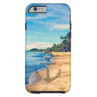 Summer Beach Nautical Anchor iPhone 6 case