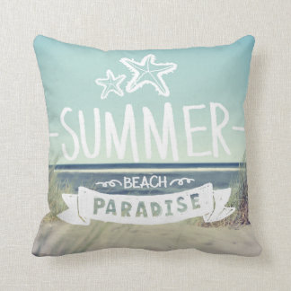 Summer Beach Paradise Cushion